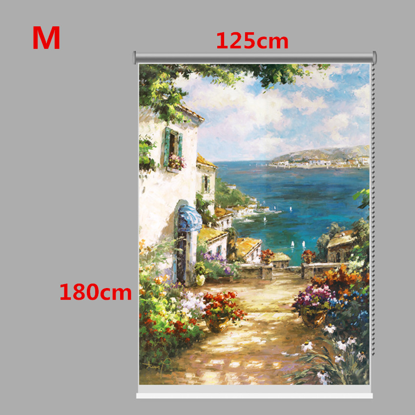 PAG Country Road Wall Decor Window Curtain Roller Shutters Print Painting Roller Blind Background