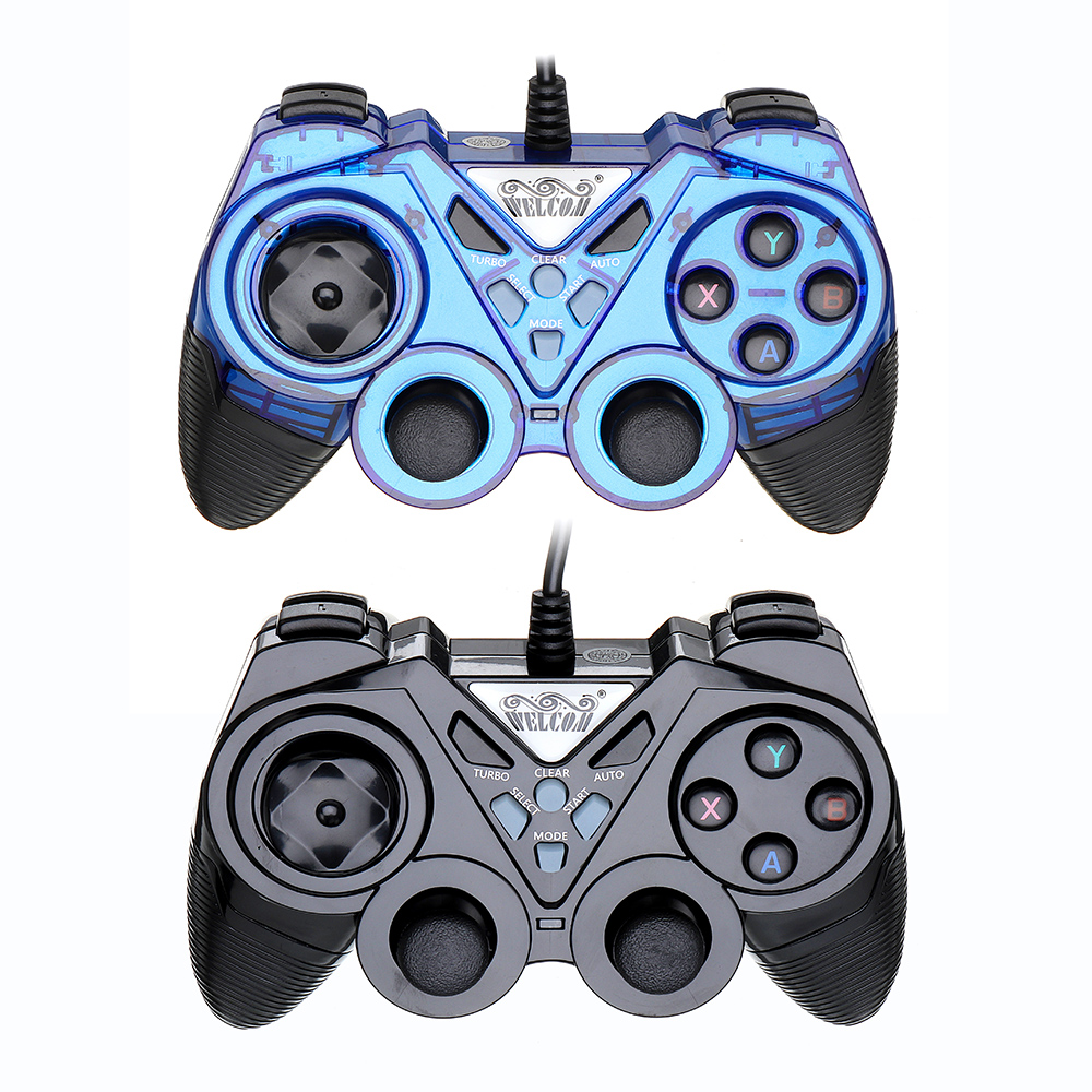 Welcom WE-8600 USB Wired Vibration Turbo Gamepad for PS3 Windows Android
