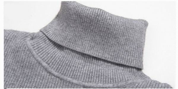 Mens Roll Neck Knitwear Cashmere Blend Turtleneck Slim Fit Knitted Sweater