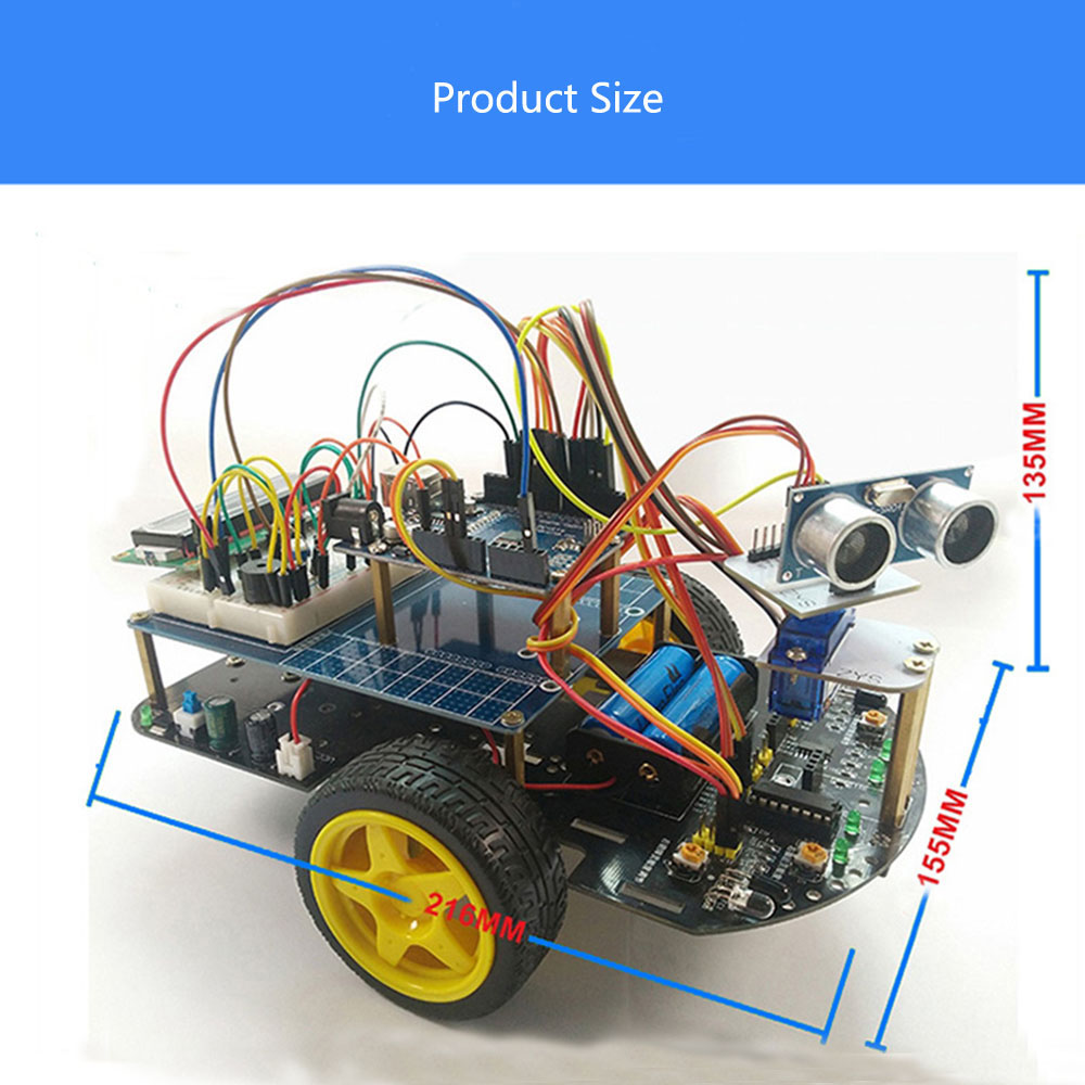 DIY Smart Wifi RC Robot Car Kit Infrared Evades Bonds Following Tracking With ZYduino Board HD Camer