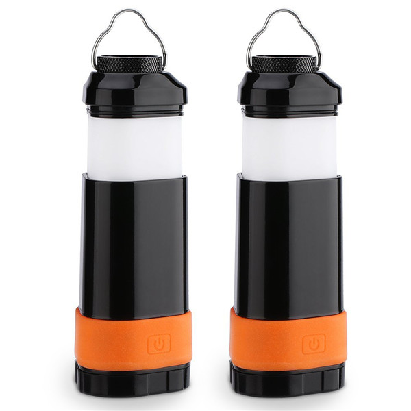 Portable Collapsible LED Lantern Flashlight Ultra Batteries Powered Camping Light with 3 Modes