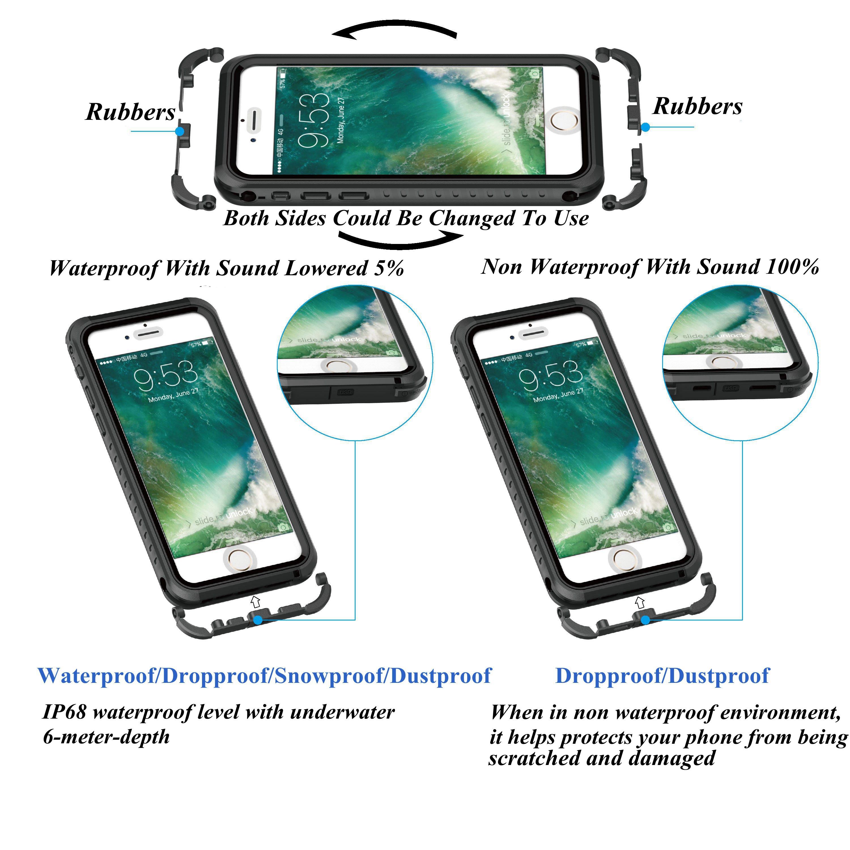 IP68 Waterproof Shockproof Snowproof Dustproof Case For iPhone 6 6s