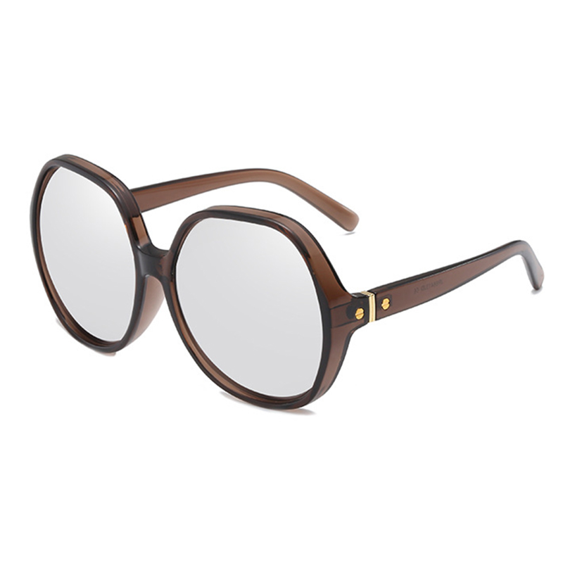 Womens Vintage Round Frame Sunglasses