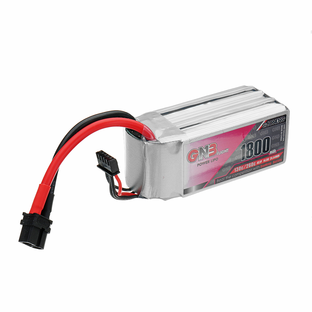 Gaoneng GNB 14.8V 1800mAh 130C/260C 4S XT60U-F Plug Lipo Battery for RC Drone
