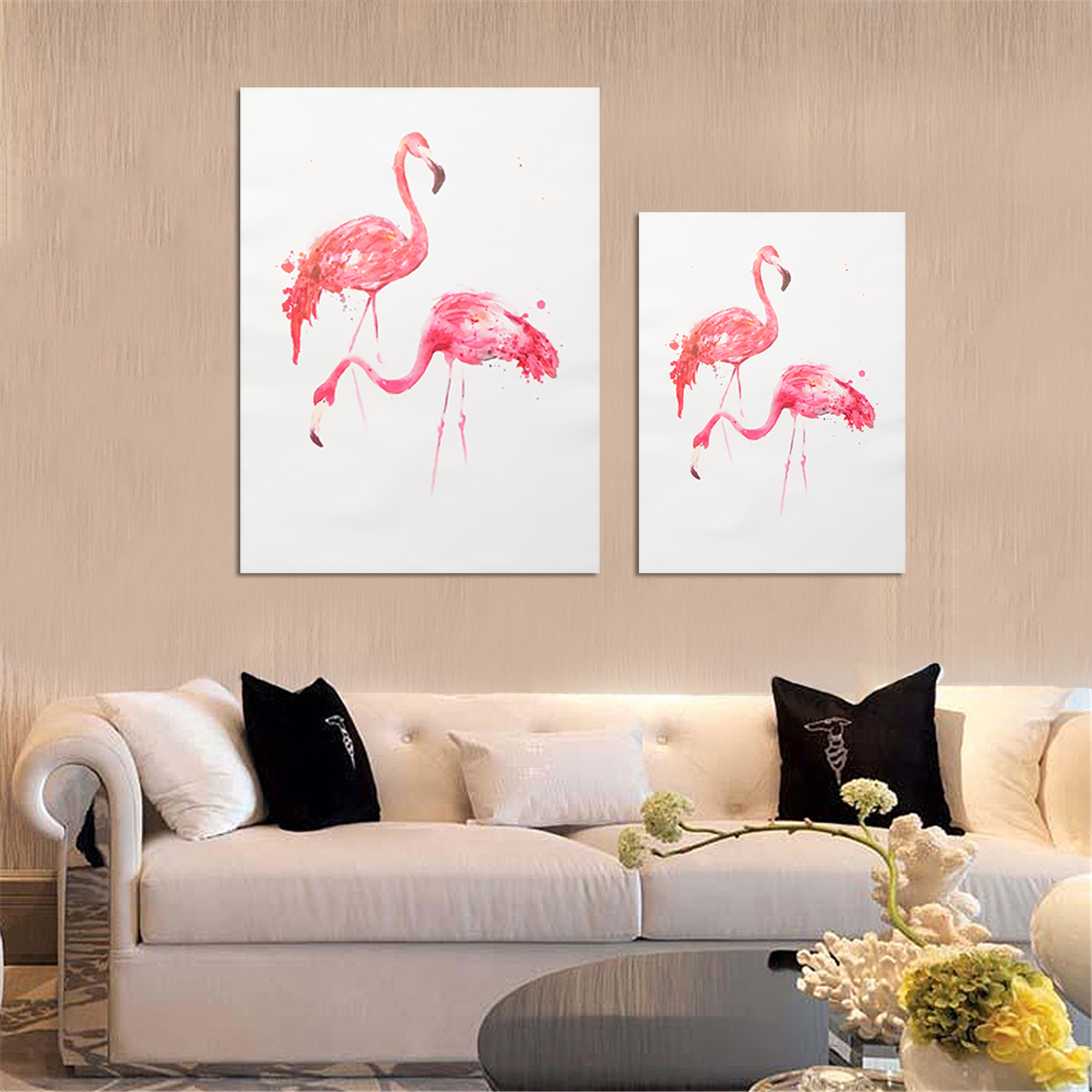 Unframed Modern Flamingo Art Canvas Oil Painting Print Wall Hanging Poster Decorations