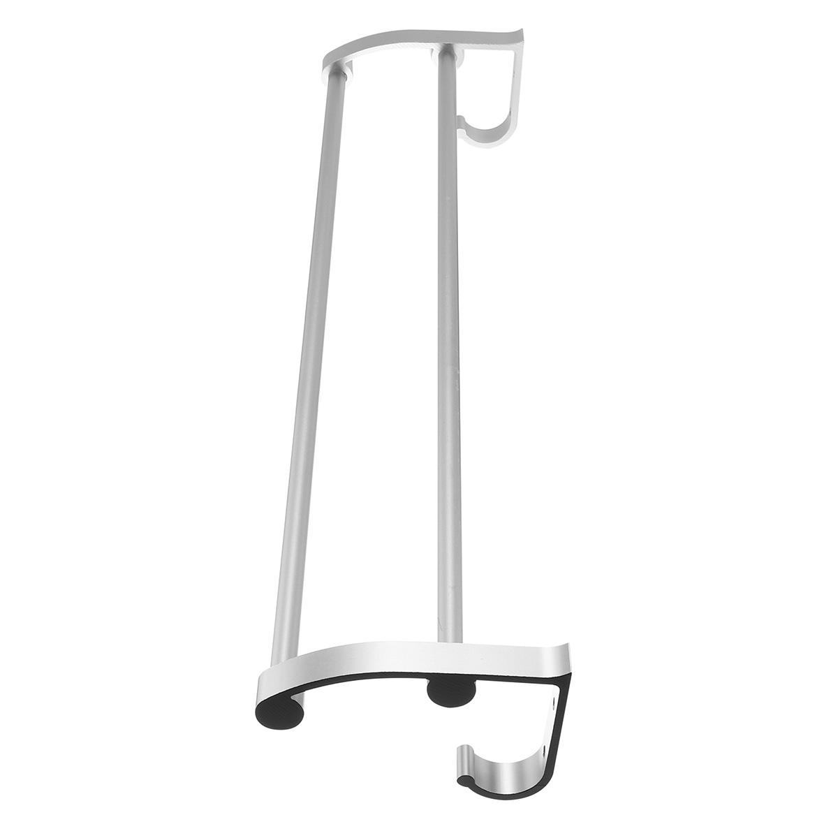 Space Aluminum Towel Rack Hook Wall Mounted Rail Towel Double Shelf Storage Bathroom Kitchen Holder
