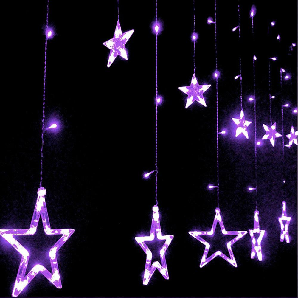 Honana HT-336 220V LED Light String Star Shape Curtain Light Home Decor Celebration Festival Wedding