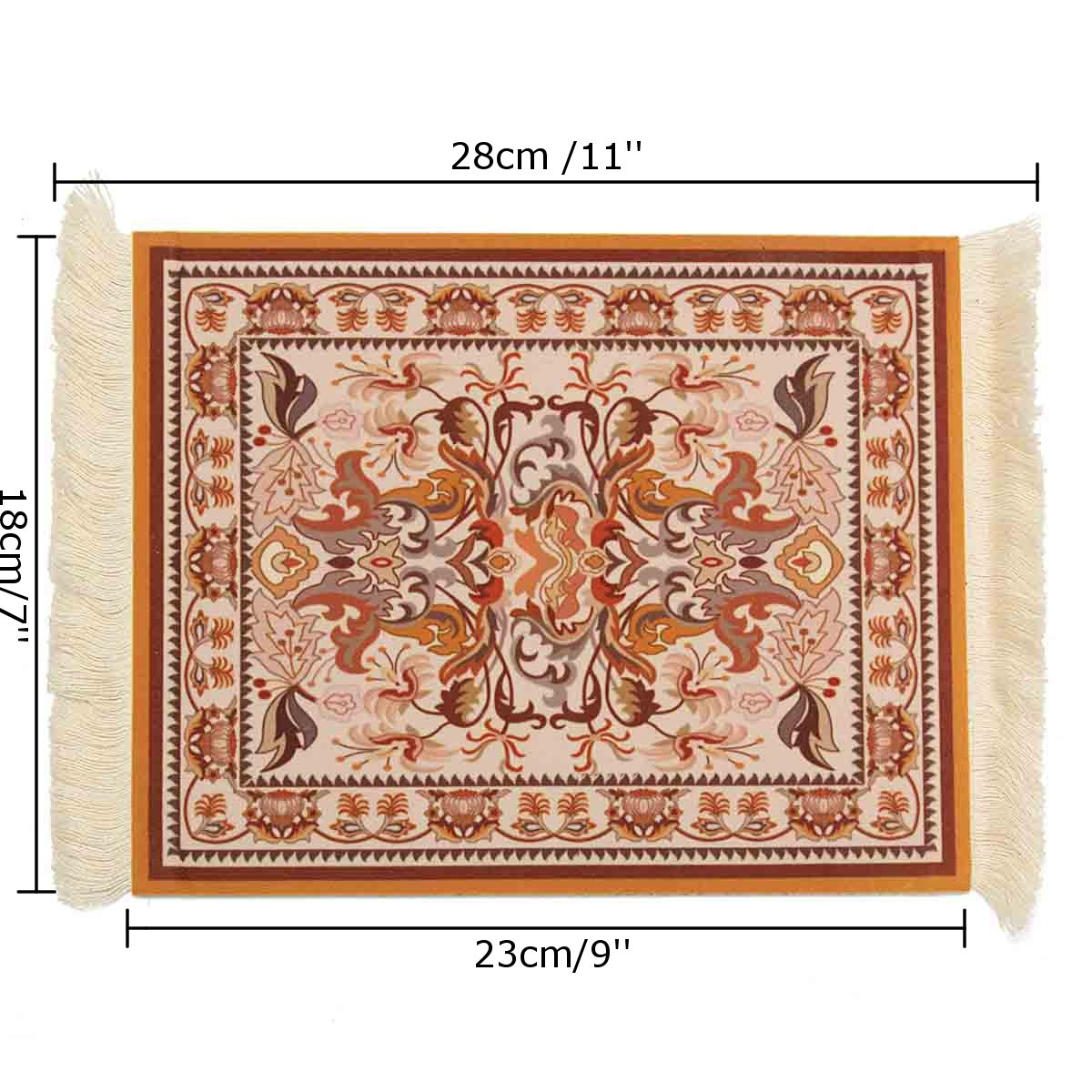 18cm x 28cm 2mm thick Bohemia Style Persian Rug Mouse Pad Mat