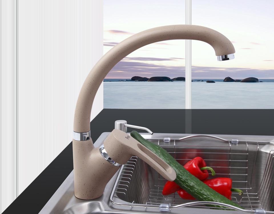 Frap F4166 Modern Multicolor Spray Painting Kitchen Faucet Cold and Hot Water Mixer Tap Single Handle 360 Rotation