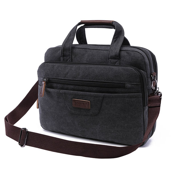 Canvas Laptop shoulder Messenger Bag Fashion Package Business Briefcase For Men