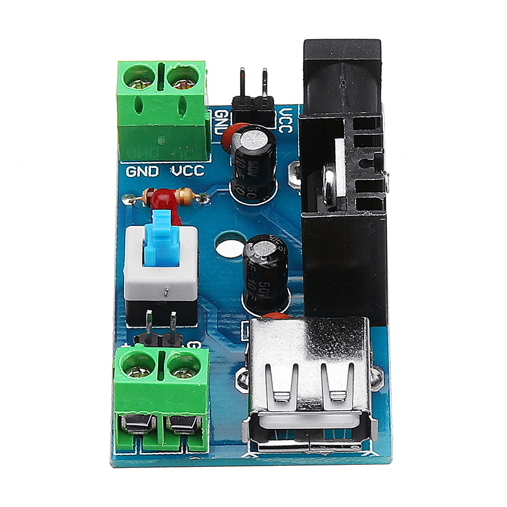 Dc 7 15v To 5v Power Supply Module 9v 12v With Heat The Resistor Is On Left Side Of Board Close Sink Shipping Methods