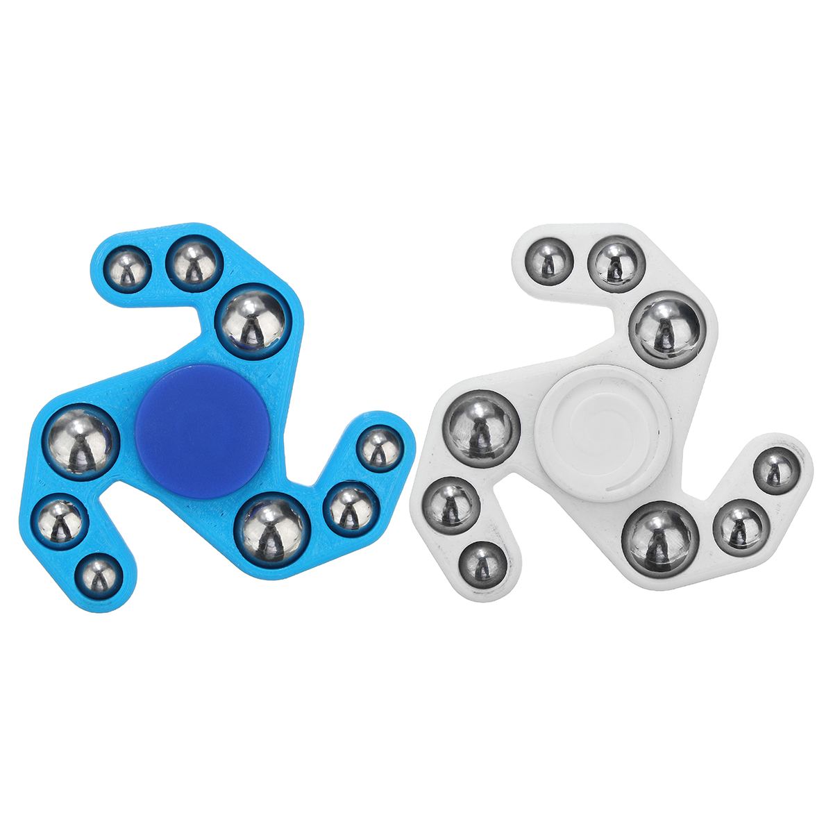 Plastic Hand Spinner Finger Spinner With Steel Ball Focus Game Novelty Gift Decompression