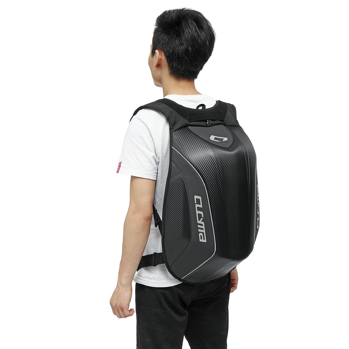 Universal Waterproof Backpack Motorcycle Bike 30L Carbon Fiber Backpack Riding Racing Storage Bag