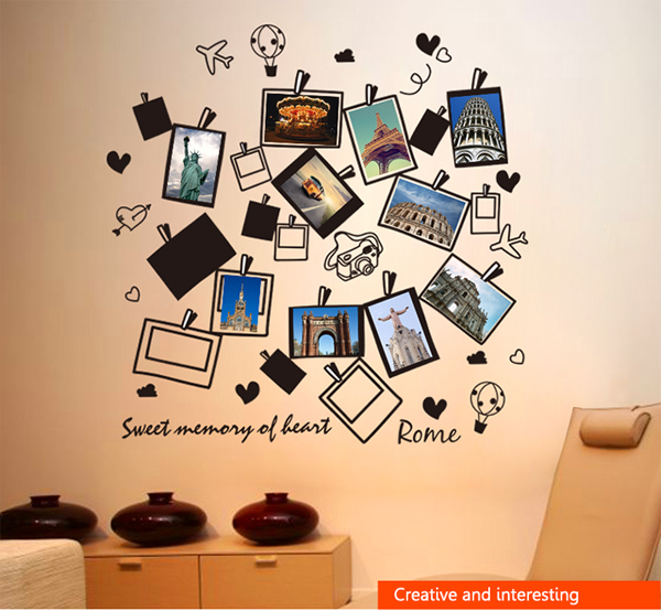 Childrens Creative Photo Gallery Wall Stickers Kids Room Decor