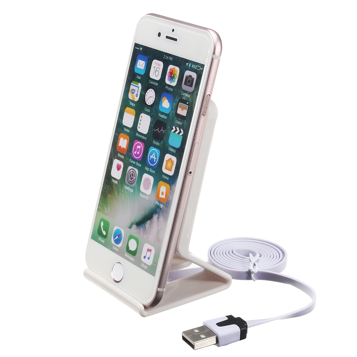 Anti-slip Silicone Wireless Fast Charging Charger Dock Stand Holder Pad for Cell Phone
