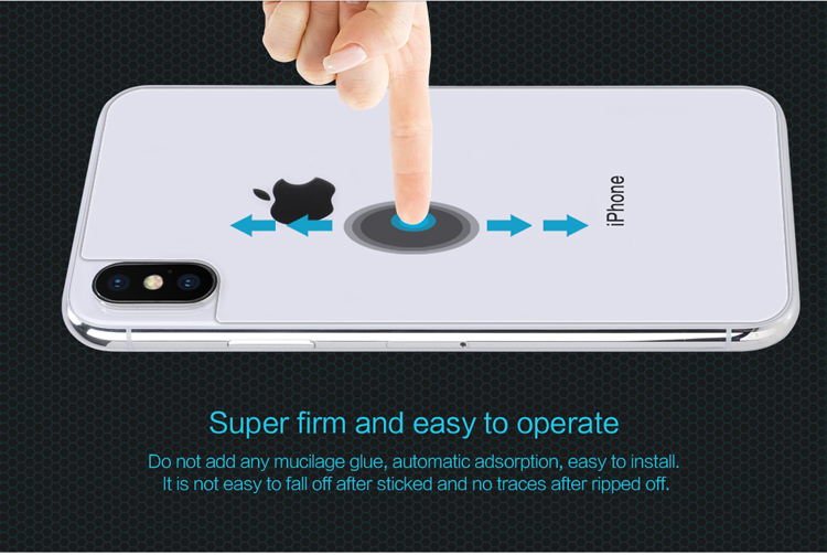 NILLKIN Nanometer Anti-Explosion Back Tempered Glass Screen Protector for iPhone XS/X