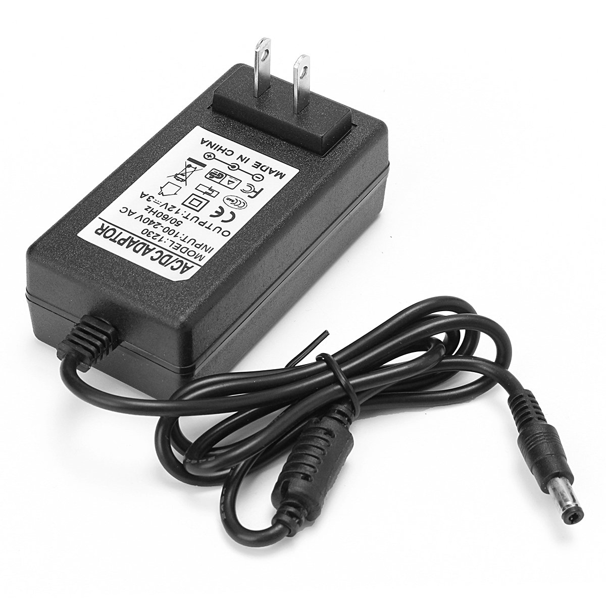US 12V 3A 36W 5.5x2.1mm Power Adapter Supply