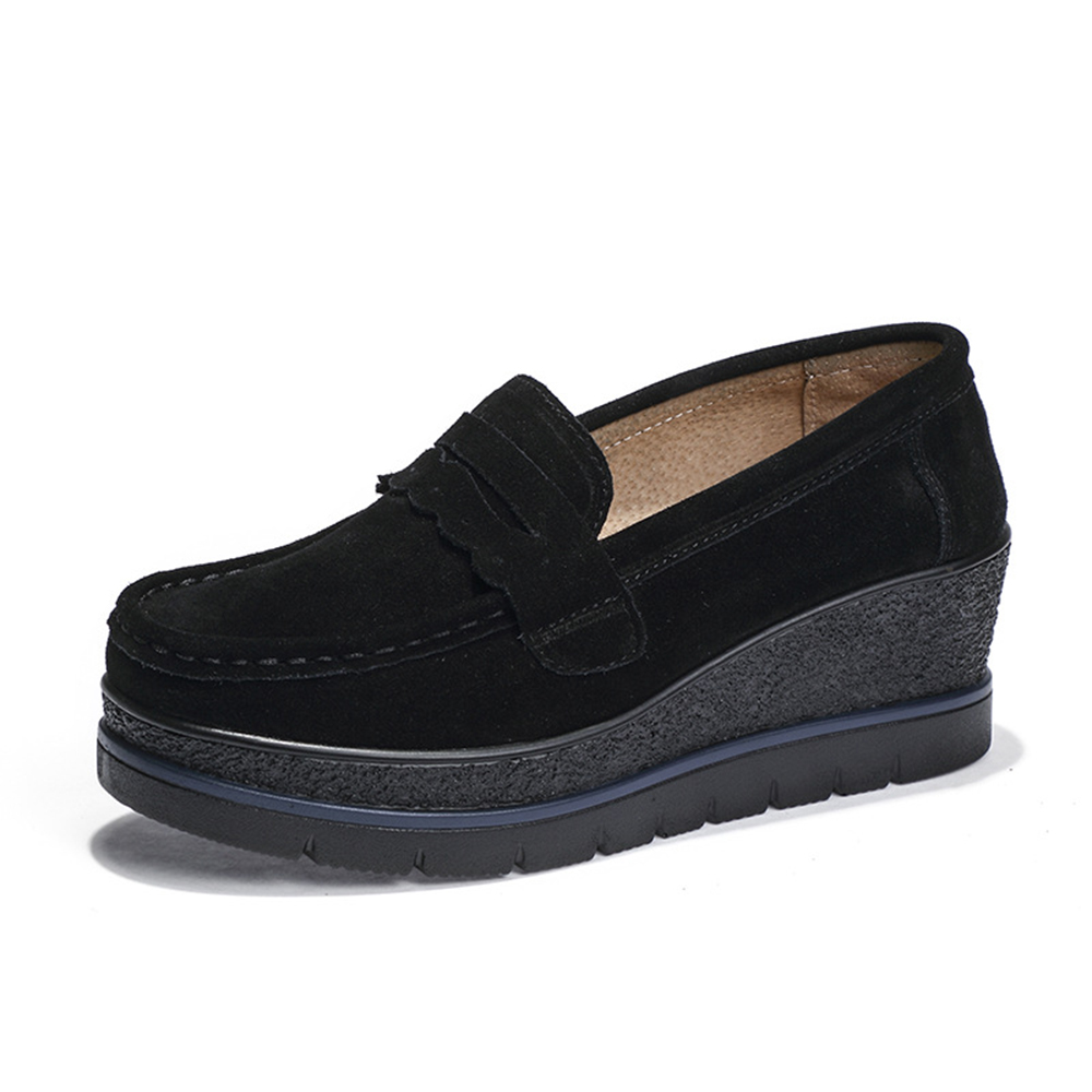 Women Comfortable Casual Loafers Platform Shoes