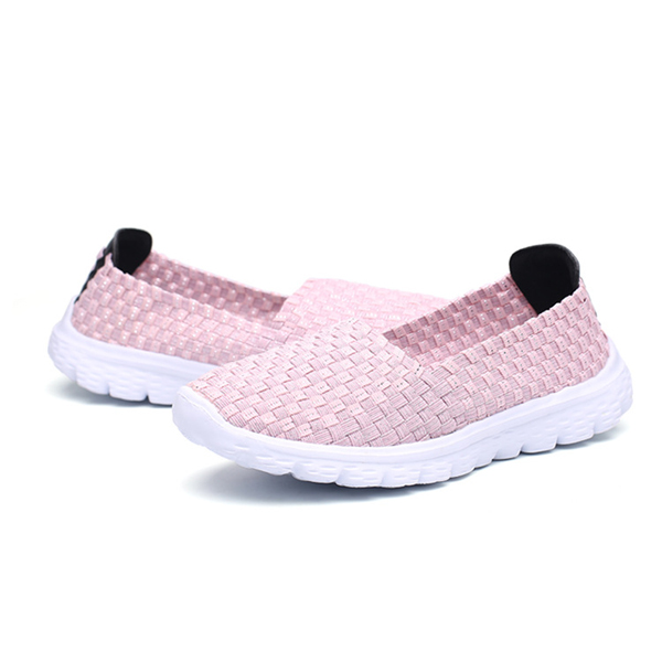 Casual Hand-made Knitted Round Toe Health Shoes For Women