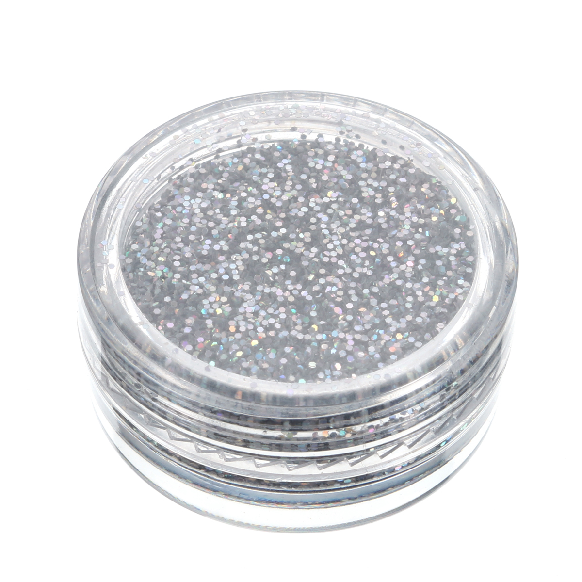 Sparkly Makeup Glitter Loose Powder Silver Eyeshadow Pigment Fix Gel Kit