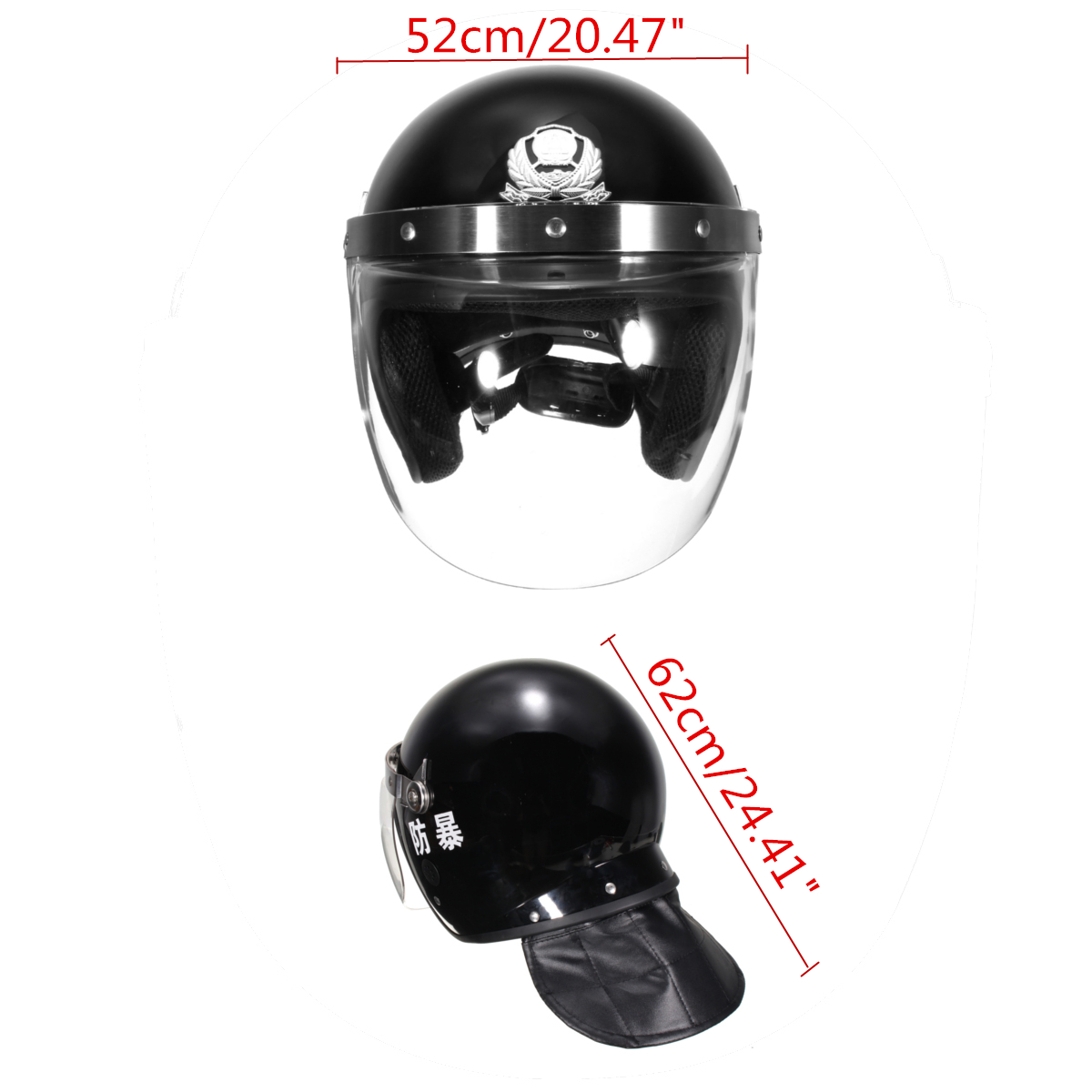 Tactical Assault Solid Anti Riot Helmet Motorcycle Face Visor Swat Protection Helmets