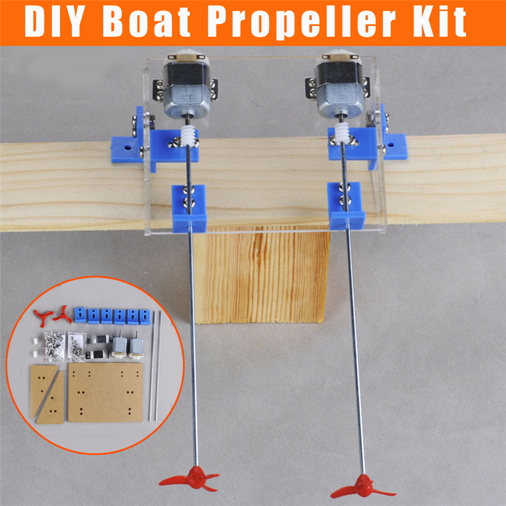 1 Set DIY Boat Propeller Kit Watercraft Motor Shaft Model RC Hobby Hand Learning Toy