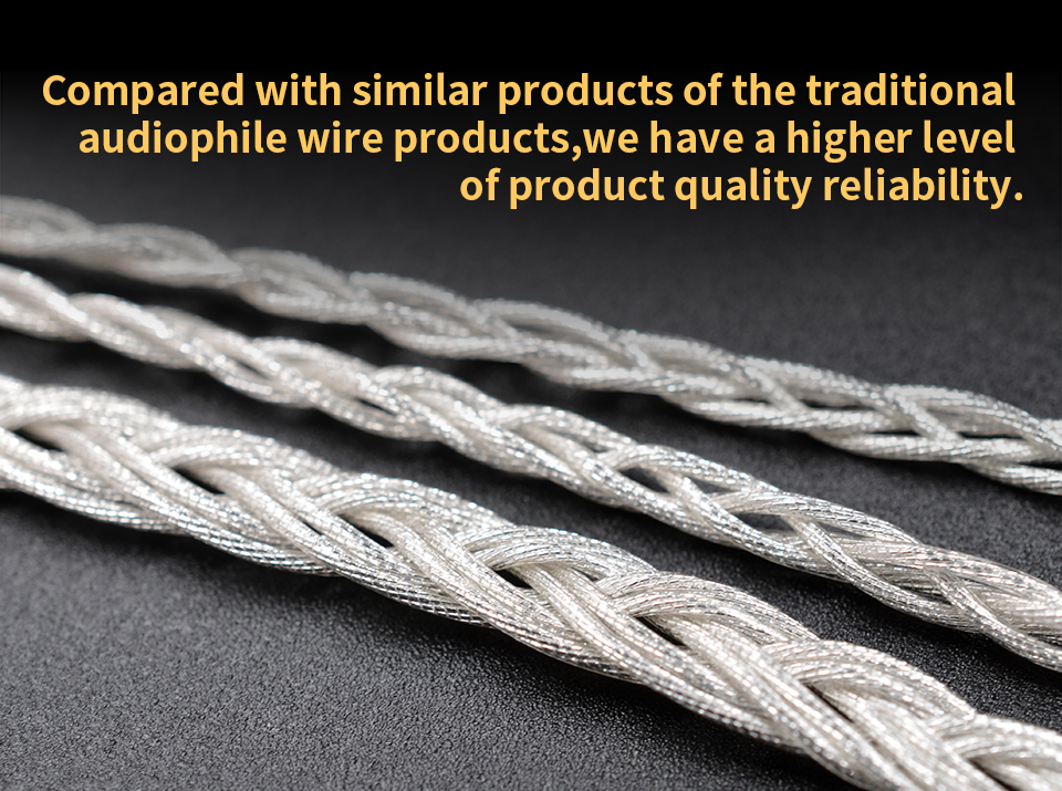 Original KZ MMCX 3.5mm Earphone Cable Silver Plated Upgrade Wire Universal Diy Music Cable