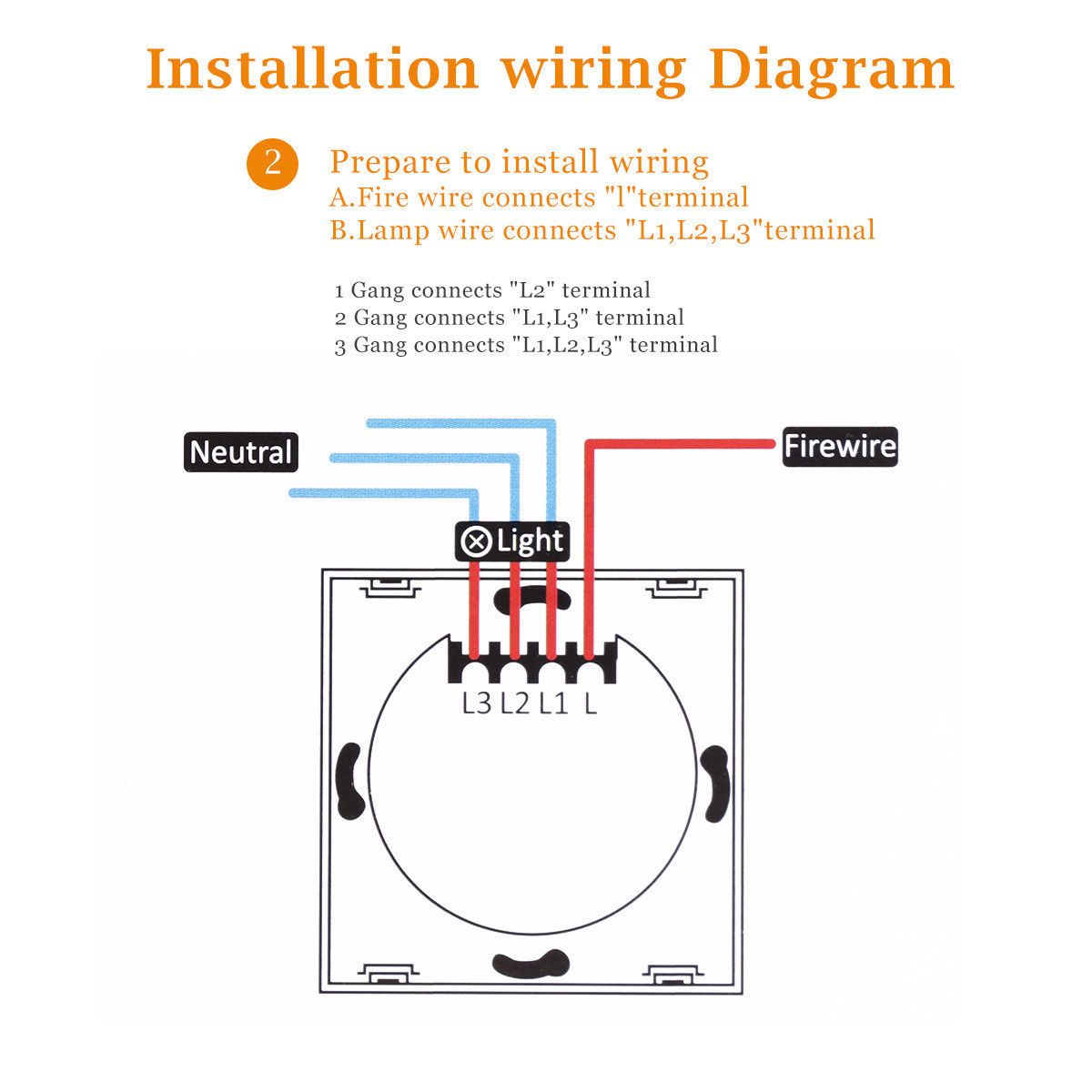 1 2 3 Way Ac100 240v Smart Wall Switch Wifi Remote Touch Wiring Diagram Shipping Methods