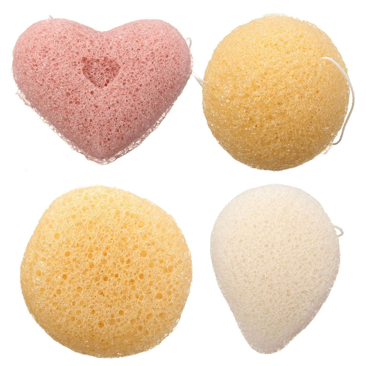 Magic Konjac Konnyaku Jelly Fiber Face Wash Cleansing Sponge Puff Pad