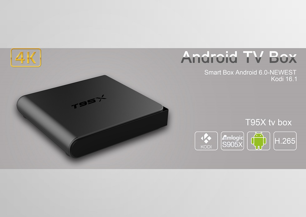 T95X Amlogic S905X 1G DDR3 RAM 8G eMMC ROM Android 6.0 KODI 16.1 4K Support AV Dolby 3G HDR VP9 H.265 HEVC TV Box Android Mini PC