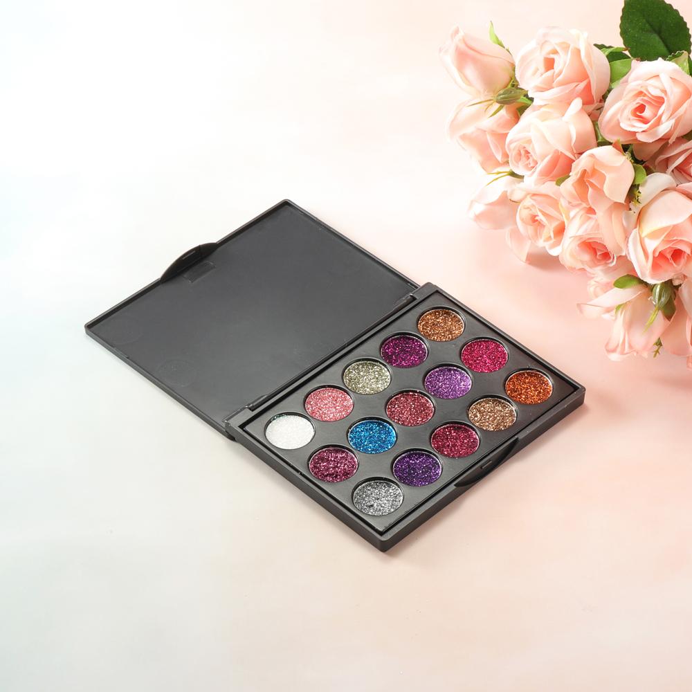 CmmaDu 15 Colors Glitter Eyeshadow Palette