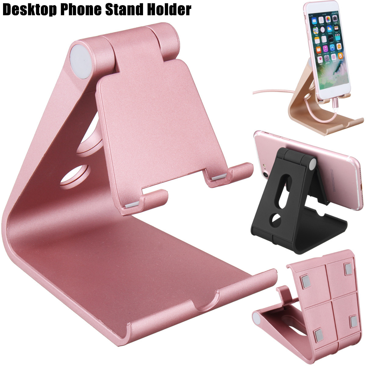 Universal Anti-slip Adjustable Desktop Phone Stand Holder Bracket for iPhone Xiaomi Tablet Mobile Phone