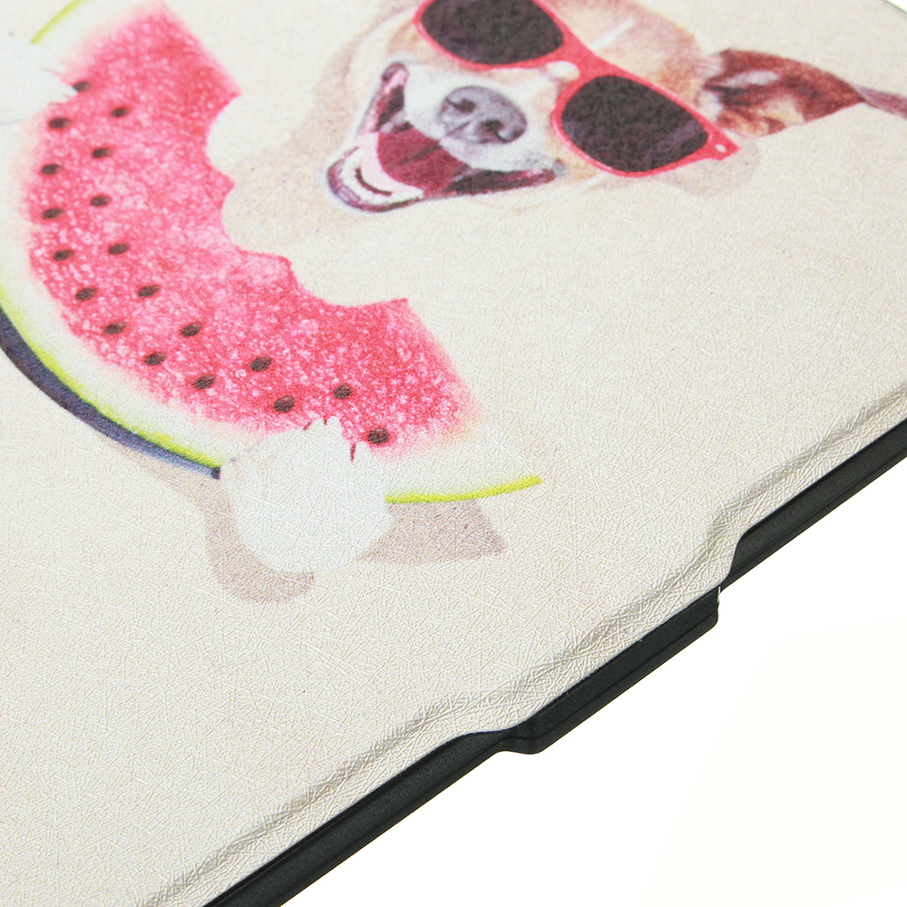 ABS Plastic Cartoon Dog Painted Smart Sleep Protective Cover Case For Kindle Paperwhite 1/2/3 eBook Reader
