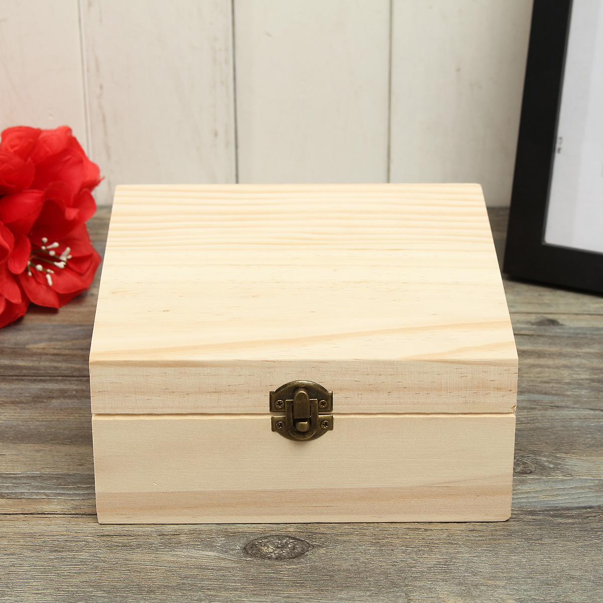 25 Holes Essential Oils Wooden Box Container Solid Pine Pure Natural Wood Storage Case
