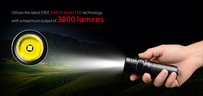 IMALENT DN70 New Tail Cap XHP70 3800LM Multi-Level Output Rechargeable LED Flashlight
