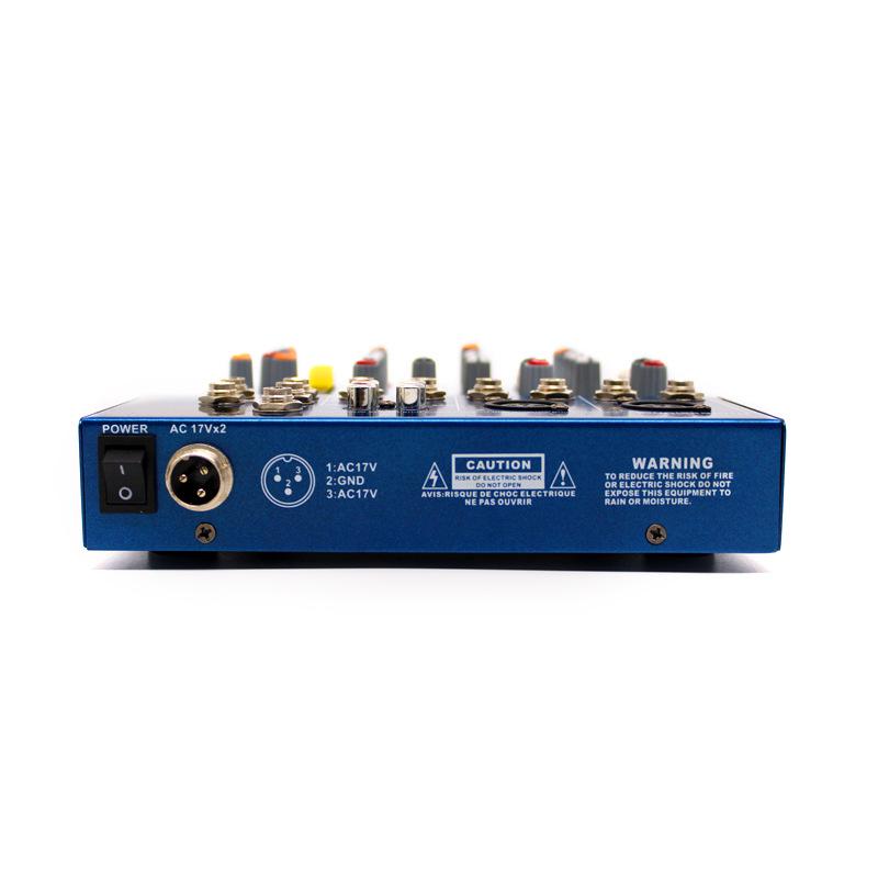 F4-USB Digital Mic Line Audio Mixing Mixer Console 3 Channel DJ Stage Music Appreciation