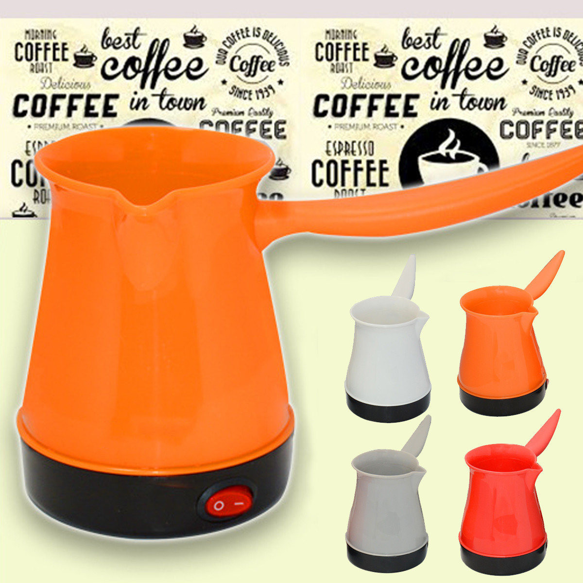 500W Home Portable Coffee Maker Electrical Turkish Coffee Maker Pot Kettle