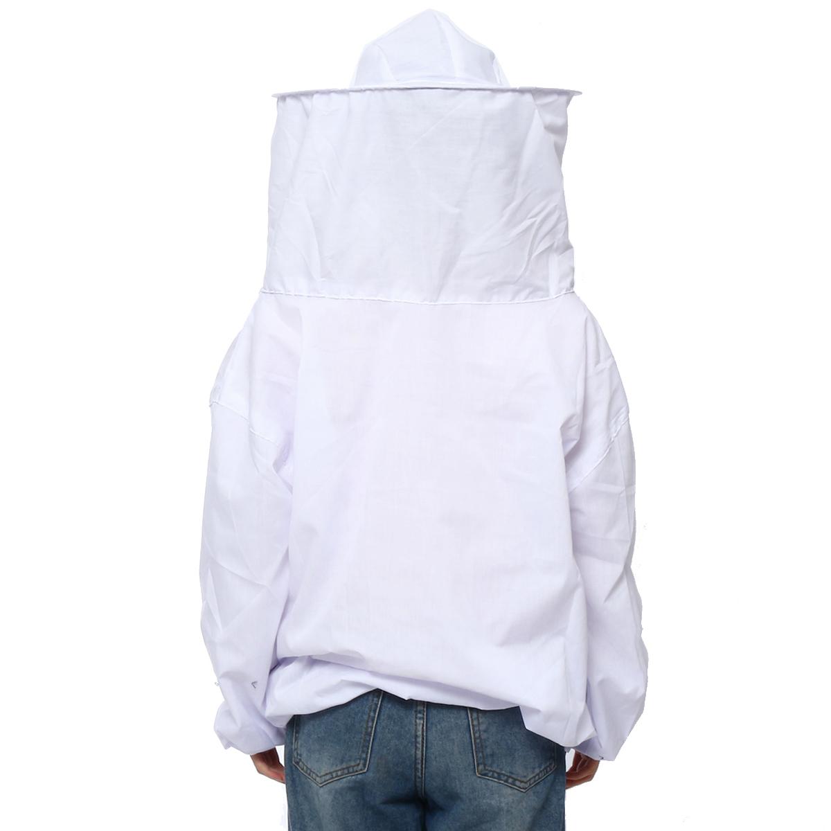 4Pcs Safe Bee-Proof BeeKeeping Veil Hat Suit Work Gloves Bee Hive Brush J Hook Tool
