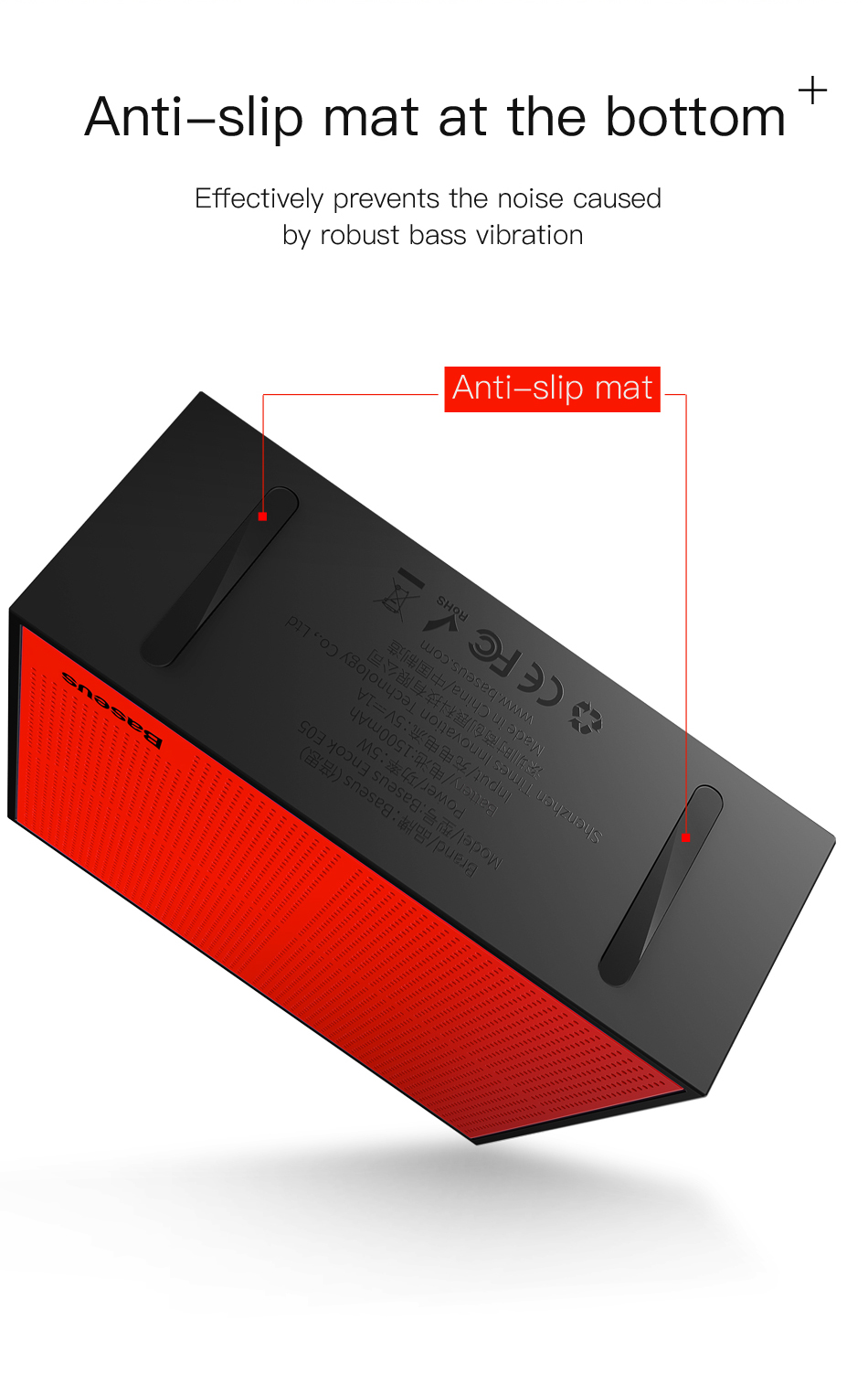 Baseus Encok E05 Cube Portable Wireless bluetooth Speaker 1500mAh IP4 Waterproof Ourdoors Subwoofer