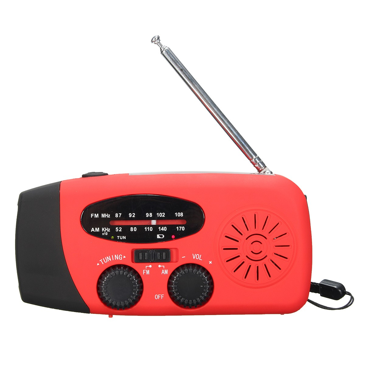 Solar AM FM Radio Emergency Wind Up Hand Crank 3 LED Lantern Light Power Bank