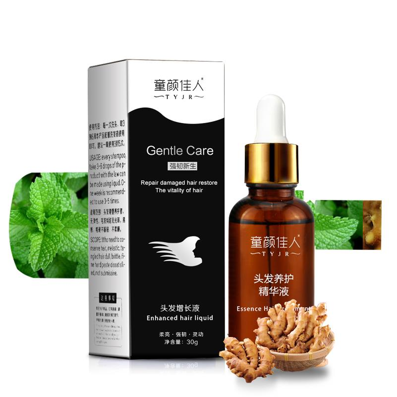 TYJR Herbal Fast Hair Growth Serum Essence Women Anti Hair Loss Liquid 30g Repairing Care
