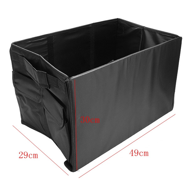 49X29X30cm Oxford Cloth Collapsible Car Storage Box Trunk Storage Compartment