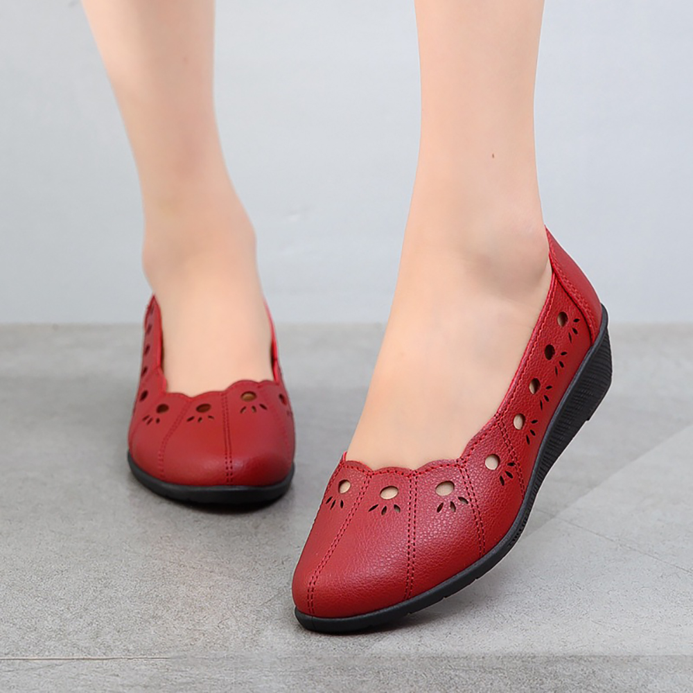 Women Casual Hollow Out Comfy Breathable Flats