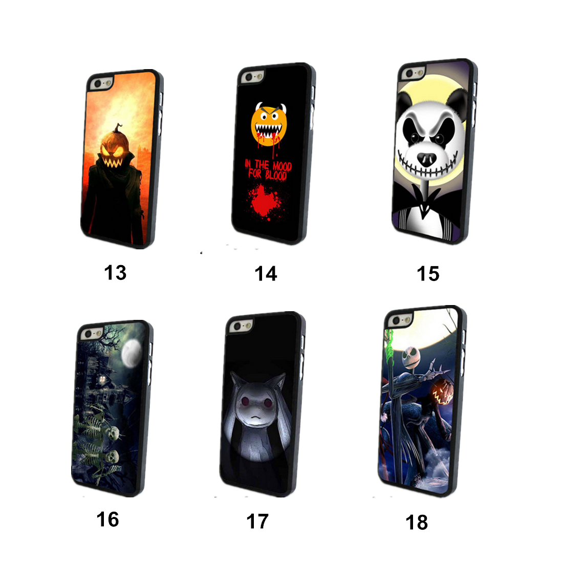 Halloween Soft TPU Cover Back Protective Case For iPhone 5 5S SE