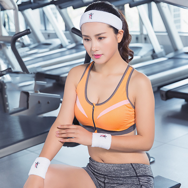 Women Sports Cotton Sweat Headband Breathable Fitness Running Hairband