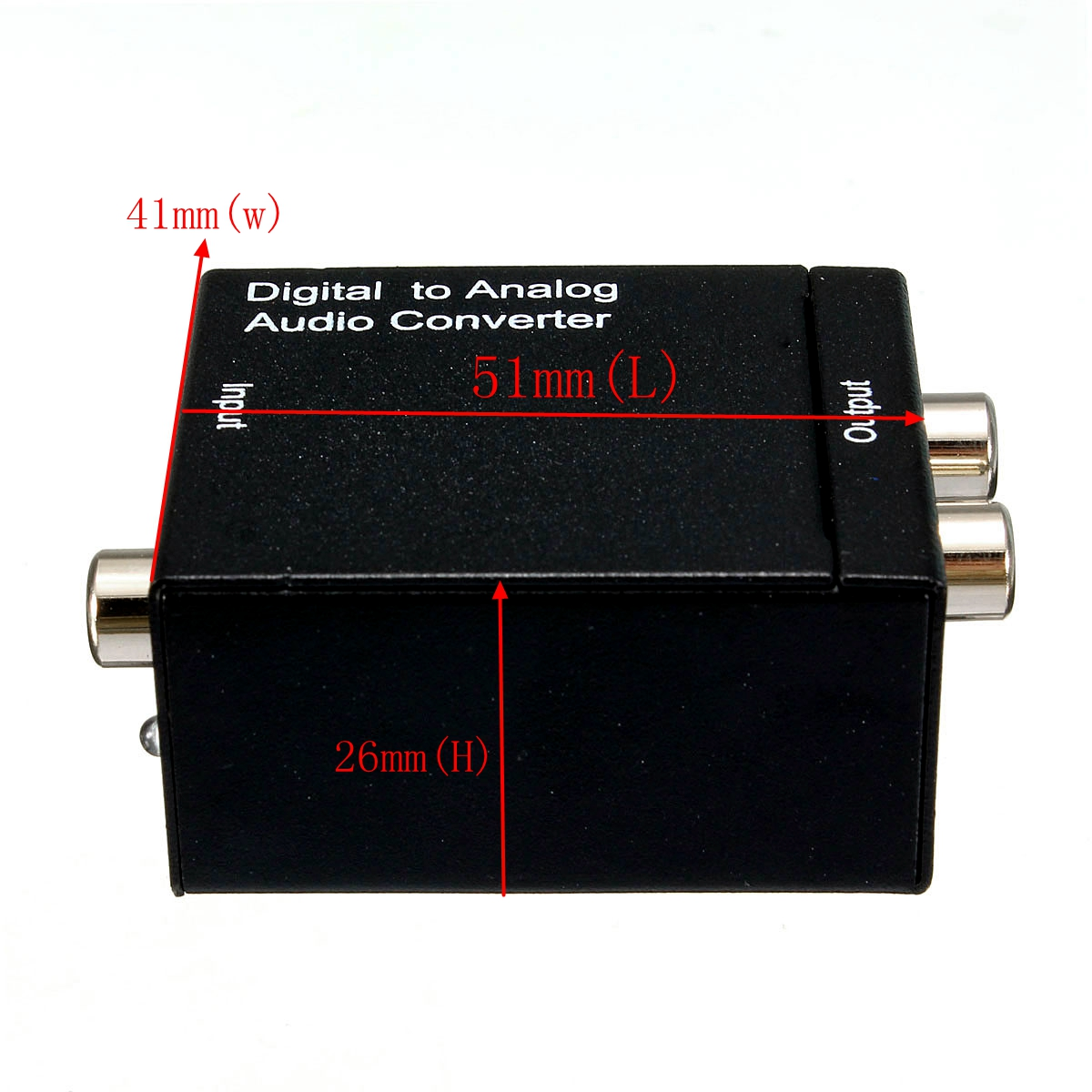 5V DC Digital Optical Toslink or SPDIF Coax to Analog L/R RCA Audio Adapter Convetor