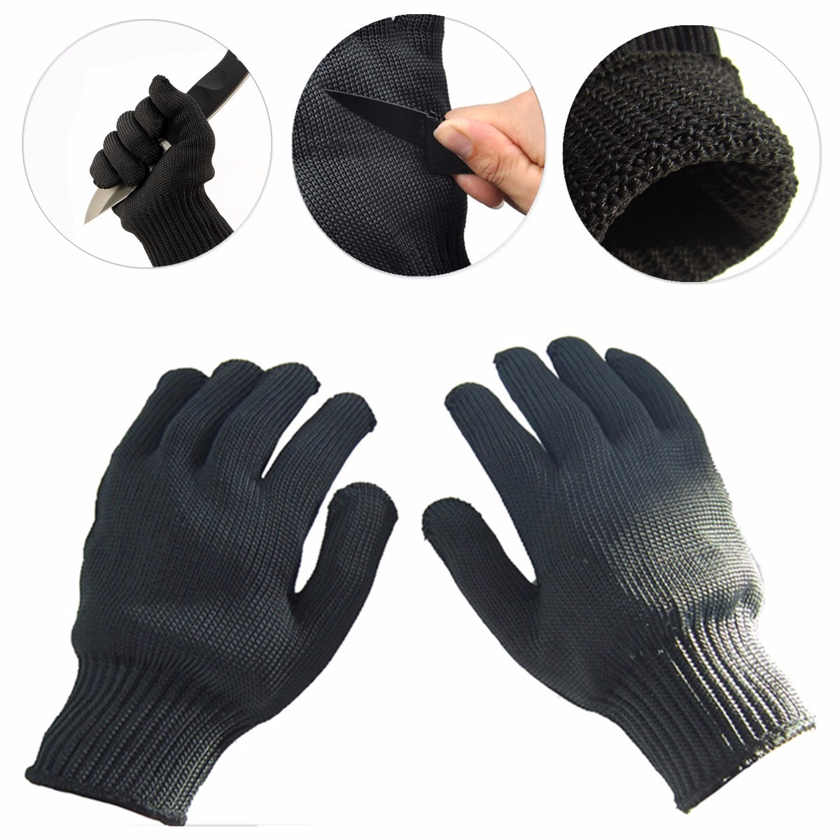 1 Pair Knife Cut Resistant Gloves Cutting And Slicing Protection Tool Cooking Tool