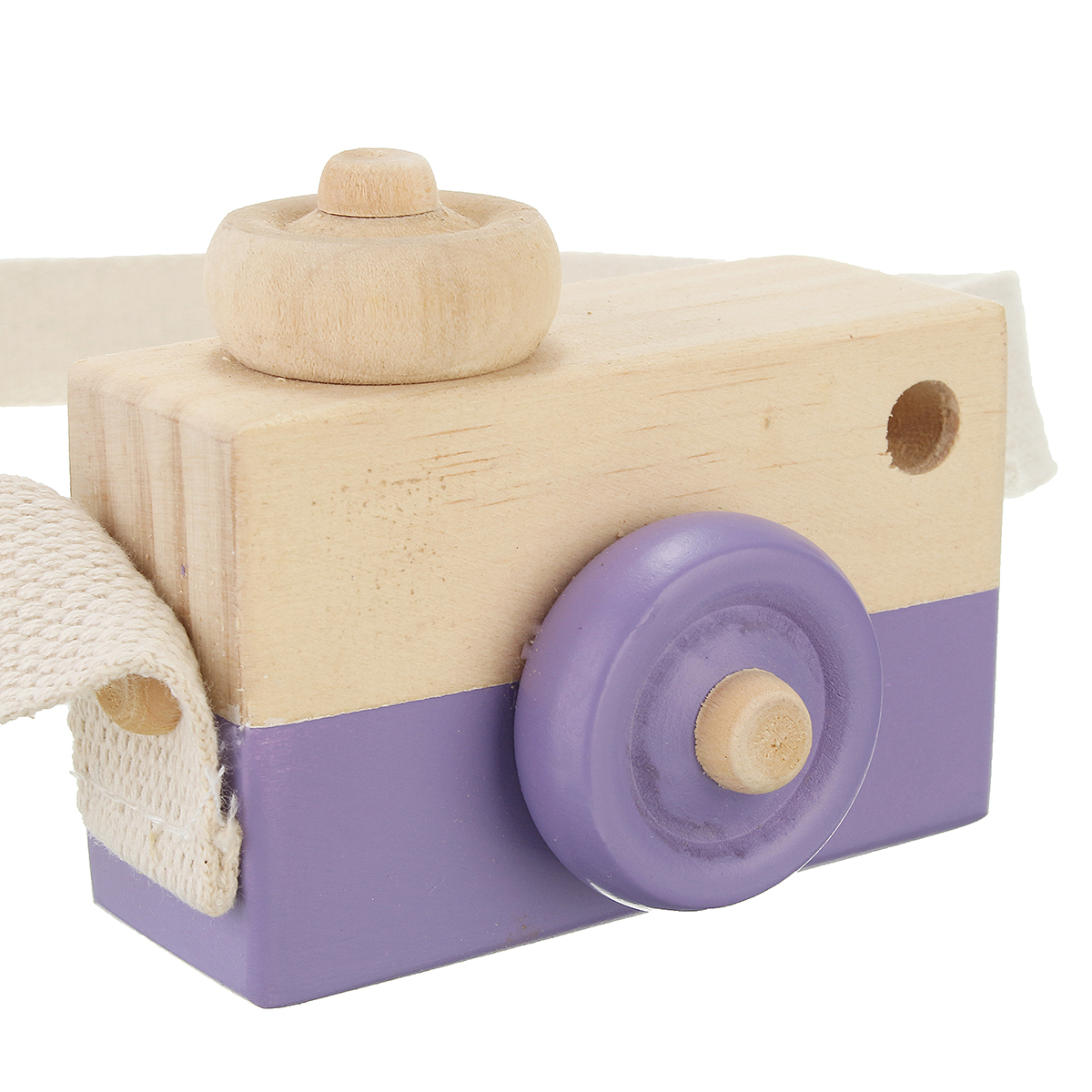 Kids Photography Cute Mini Wood Camera Pillow Children Decor Natural Wooden Camera Shooting Prop