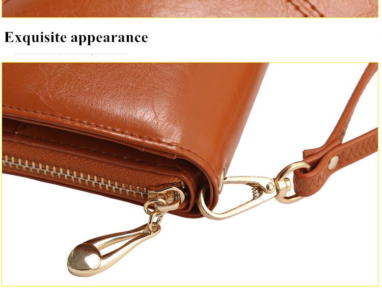 Floveme Fashion Woman PU Zipper Wallet Bag Multifunctional Purse for Samsung Xiaomi Mobile Phone