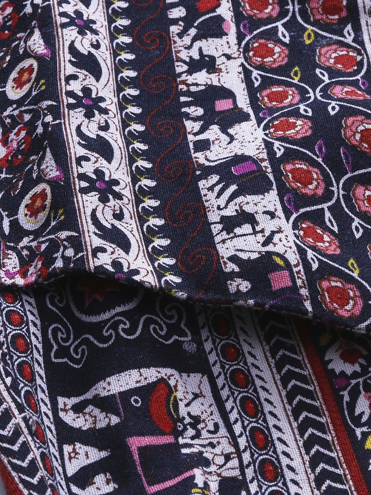 O-Newe L-5XL Vintage Midi Dress